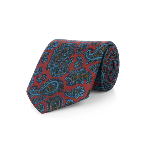 Budd Oversized Paisley Madder Silk Tie-Necktie-Sterling-and-Burke