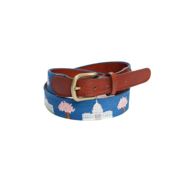 Washington, DC Needlepoint Belt-Belt-Sterling-and-Burke