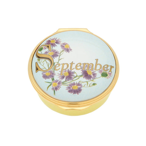 "Halcyon Days ""September"" Enamel Box"