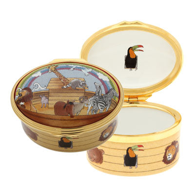 Enamel Box | Noah's Ark All Aboard Enamel Box | Halcyon Days | Made in England