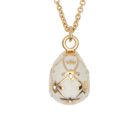 Halcyon Days Bee Sparkle Pendant Necklace in Cream & Gold