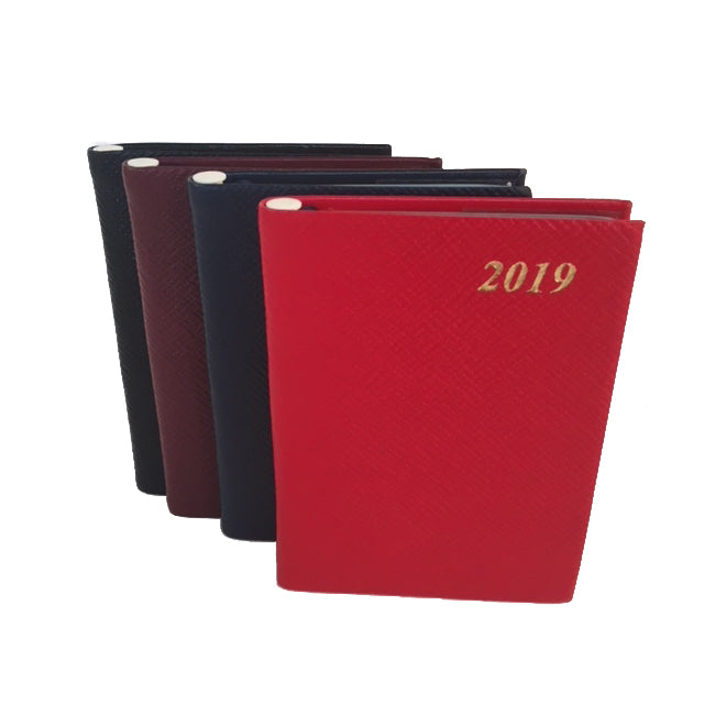 Year 2019 Diary, 4 by 2 | Crossgrain | Pencil in Spine | D742LJ-Calendar-Sterling-and-Burke