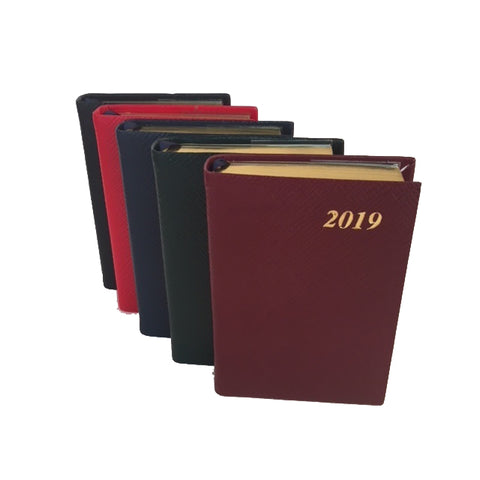 Year 2019 Diary, 4 by 2 | Crossgrain | One Day Per Page | D142L-Calendar-Sterling-and-Burke