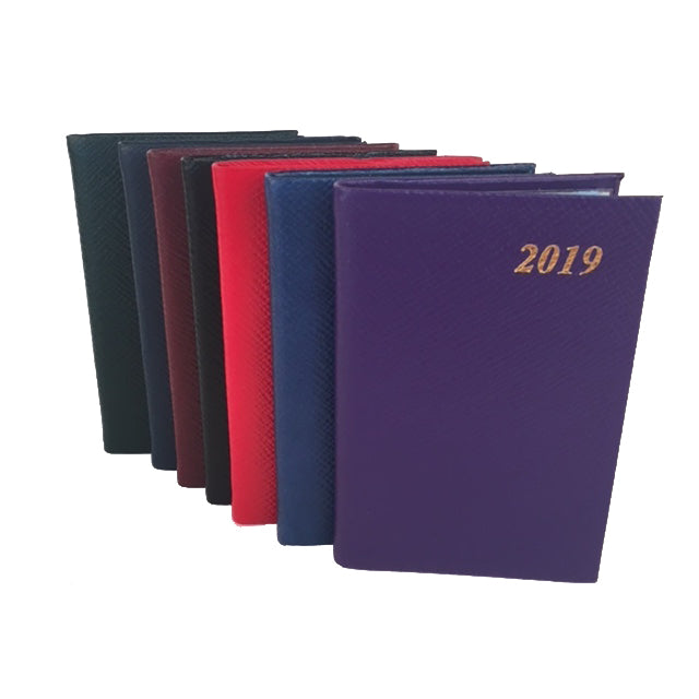 2019 Diary, 4 by 2 | Crossgrain Leather | D742L-Calendar-Sterling-and-Burke