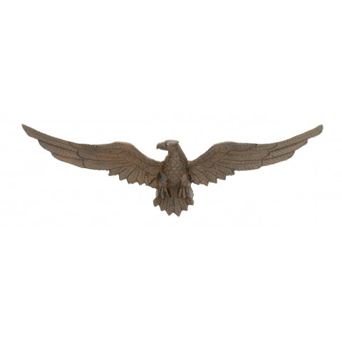 Copy of American Eagle | USA Eagle with spread wings | Cast Iron | Large Eagle Wall Decoration | 7 by 25 inches | Award Decoration | Reproduction of Vintage Style-Sterling-and-Burke