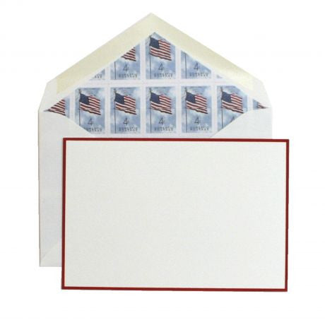 American Flag Stamp Stationery by Dempsey and Carroll-Stationery-Sterling-and-Burke