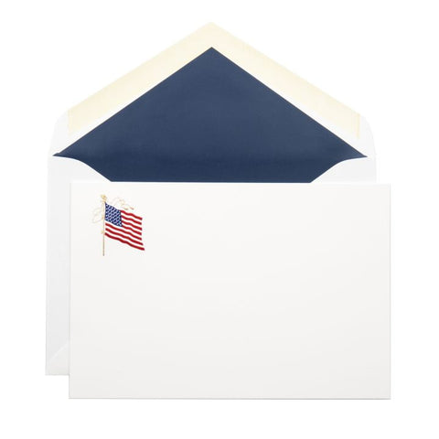 american flag stationery set of 10 dempsey carroll dc