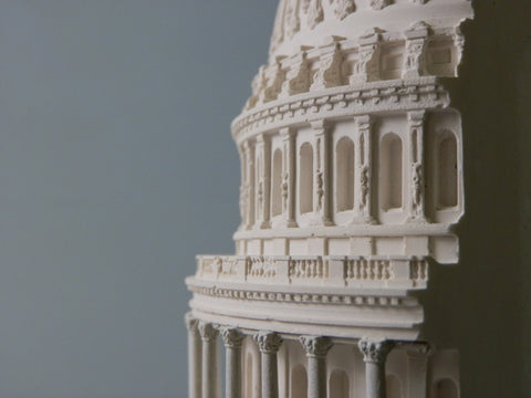 Architectural Sculpture | Capitol Building | Washington, DC | Custom Model | Extraordinary Quality and Detail | Made in England | Timothy Richards-Desk Accessory-Sterling-and-Burke