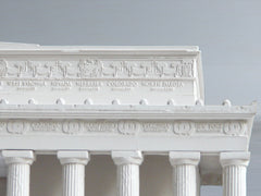 Lincoln Memorial Sculpture | Custom Lincoln Memorial Plaster Model | Extraordinary Quality and Detail | Made in England | Timothy Richards-Desk Accessory-Sterling-and-Burke