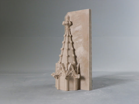 National Cathedral Spire Architectural Sculpture | Custom Washington National Cathedral Plaster Model | Extraordinary Quality and Detail | Made in England | Timothy Richards
