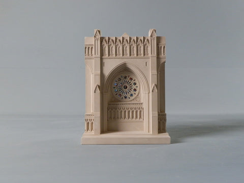 National Cathedral Rose Window Architectural Sculpture | Custom Washington National Cathedral Plaster Model | Extraordinary Quality and Detail | Made in England | Timothy Richards