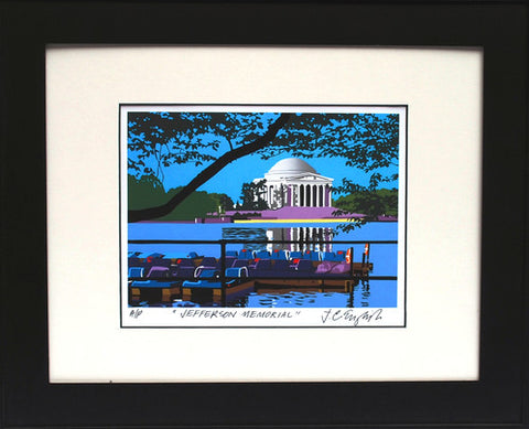 Framed Jefferson Memorial | Jefferson Memorial Art | Joseph Craig English, Artist | 16 by 20 Inches Framed
