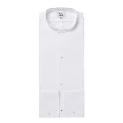 Budd Classic Fit Marcella Semi-Stiff Neckband Dress Shirt in White