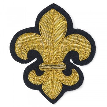 Fleur de Lys Blazer Badge | Made in England-Blazer Badge-Sterling-and-Burke