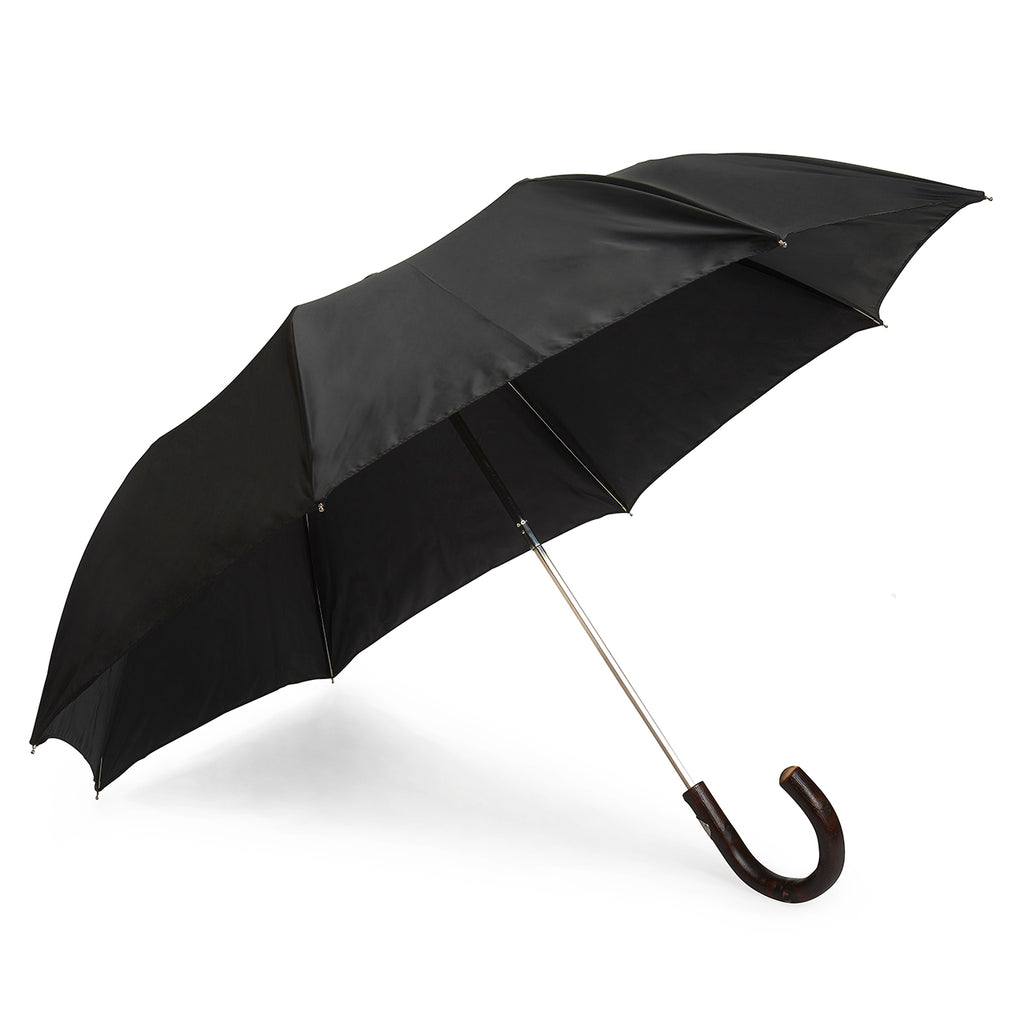 Twille Poly-Cotton Umbrella in Black-Sterling-and-Burke