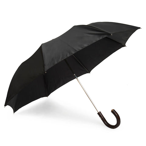 Twille Poly-Cotton Umbrella in Black