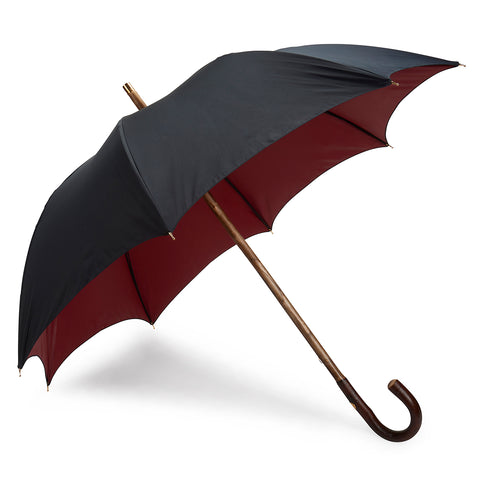 Budd Double Face Poly-Cotton Umbrella in Navy and Red