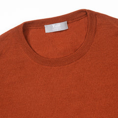 Budd Wool Crew Neck Sweater in Cayenne-Sweater-Sterling-and-Burke