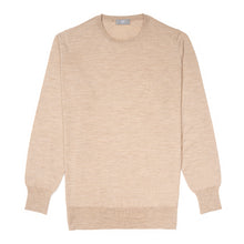 Load image into Gallery viewer, Budd Wool Crew Neck Sweater in Oat-Sweater-Sterling-and-Burke