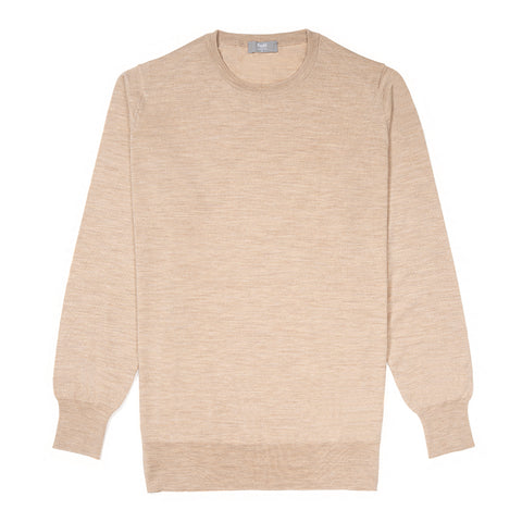 Budd Wool Crew Neck Sweater in Oat