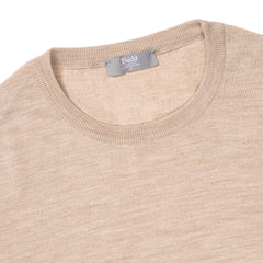 Budd Wool Crew Neck Sweater in Oat-Sweater-Sterling-and-Burke