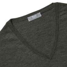 Load image into Gallery viewer, Budd Wool V Neck Sweater in Smoke-Sweater-Sterling-and-Burke