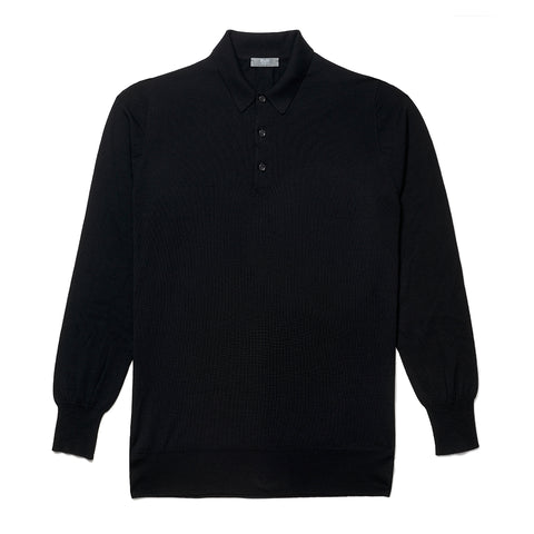 Budd Wool Sports Sweater in Black