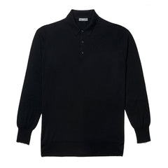 Budd Wool Sports Sweater in Black-Sweater-Sterling-and-Burke