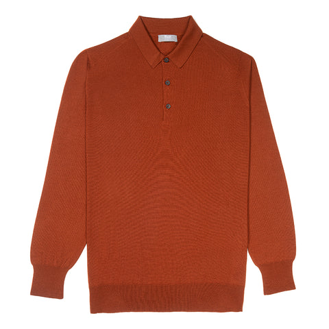 Budd Wool Sports Sweater in Cayenne