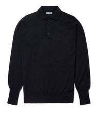Load image into Gallery viewer, Budd Wool Sports Sweater in Dark Navy-Sweater-Sterling-and-Burke