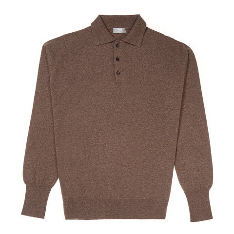 Budd Wool Sports Sweater in Mole
