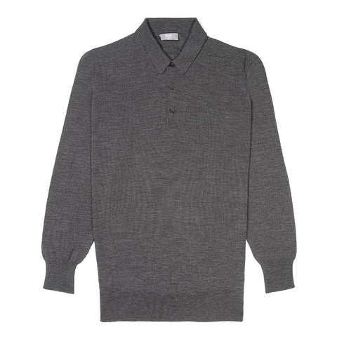 Budd Wool Sports Sweater in Smoke