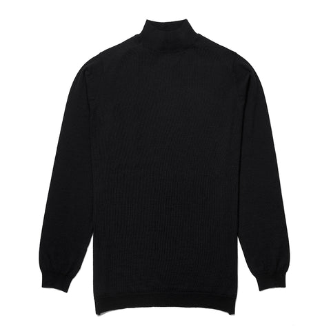 Budd Wool Turtle Neck Sweater in Black