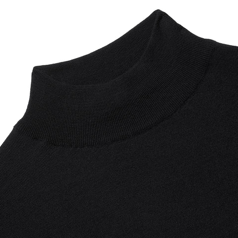 Budd Wool Turtle Neck Sweater in Black-Sweater-Sterling-and-Burke