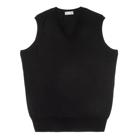 Budd Wool Slip Over Sweater in Black