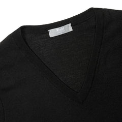 Budd Wool Slip Over Sweater in Black-Sweater-Sterling-and-Burke