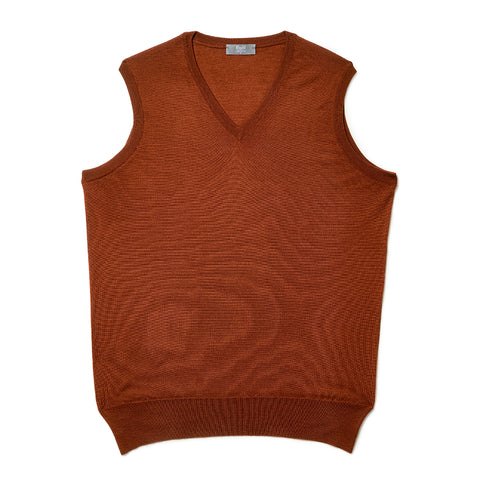 Budd Wool Slip Over Sweater in Cayenne