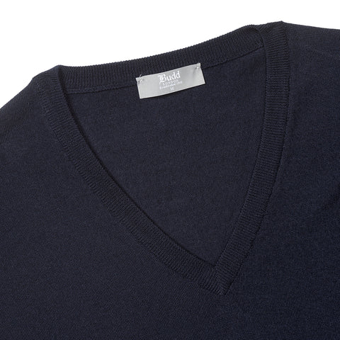 Budd Wool Slip Over Sweater in Dark Navy-Sweater-Sterling-and-Burke