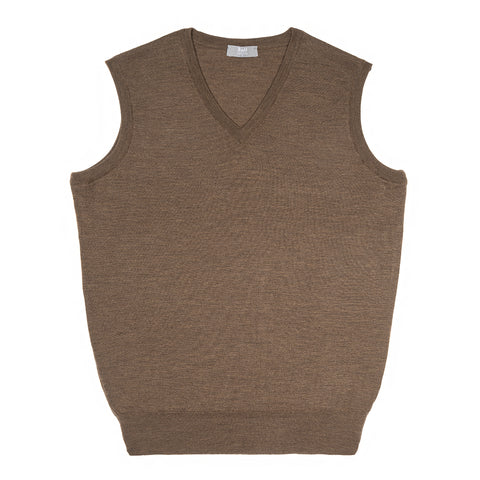 Budd Wool Slip Over Sweater in Mole