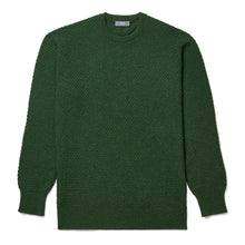 Load image into Gallery viewer, Budd Cashmere Seed Stitch Crew Neck Sweater in Serpentine-Sweater-Sterling-and-Burke