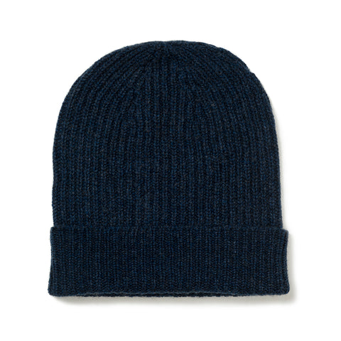 Budd Cashmere Ribbed Hat in Cosmos