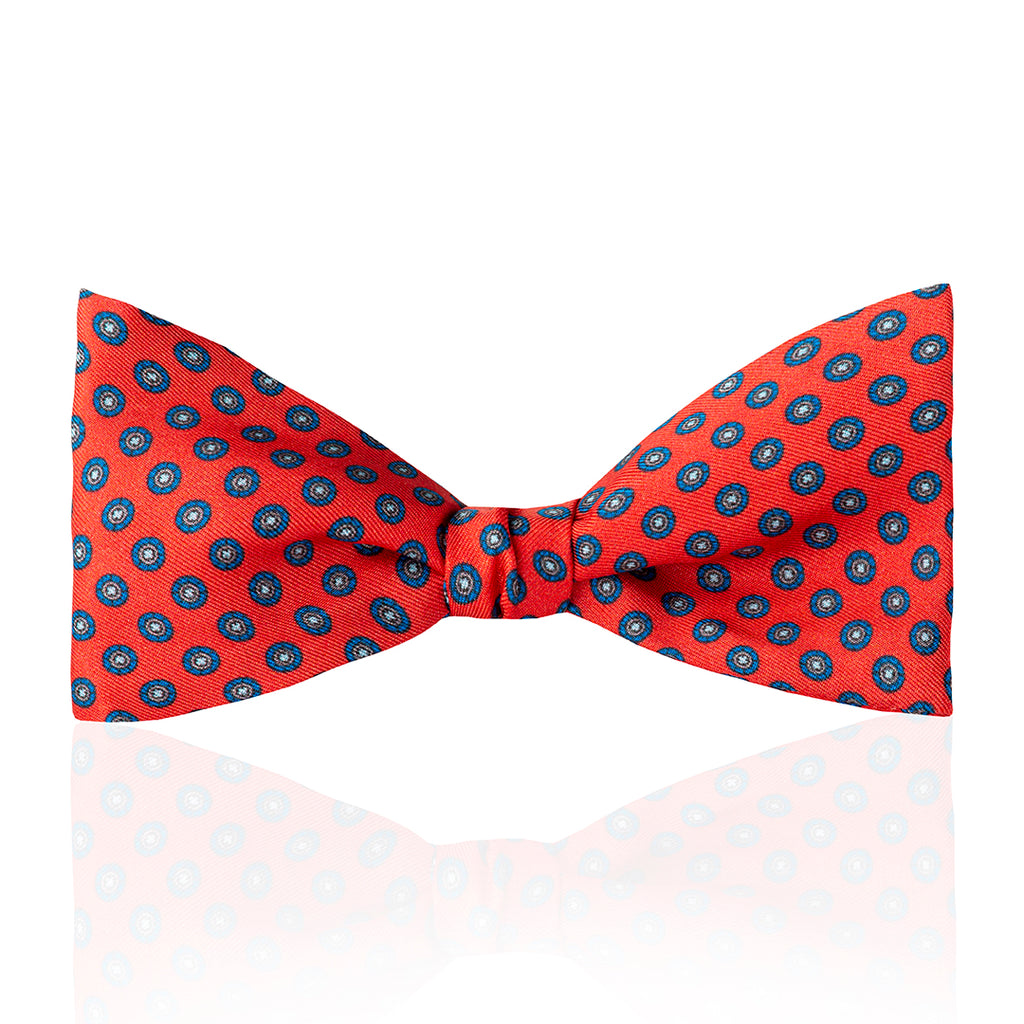 Budd Motif Foulard Silk Thistle Bow Tie in Various Colors-Bow Tie-Sterling-and-Burke
