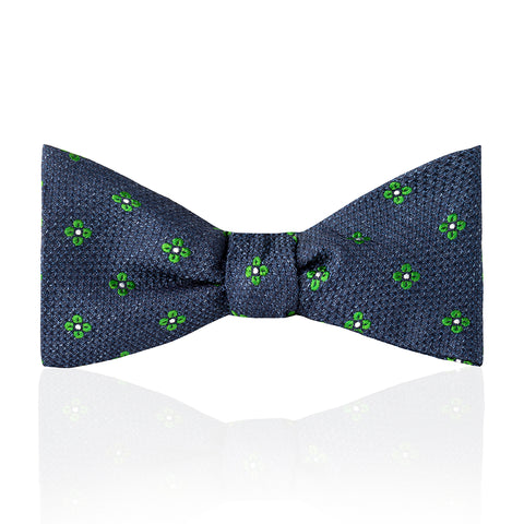 Budd Daisy Tussah Silk Thistle Bow Tie in Various Colors