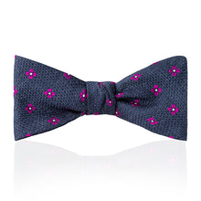 Load image into Gallery viewer, Budd Daisy Tussah Silk Thistle Bow Tie in Various Colors-Bow Tie-Sterling-and-Burke