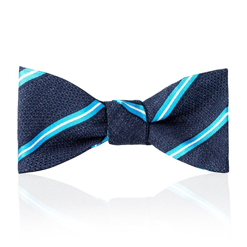 Budd Multi-Stripe Tussah Silk Thistle Bow Tie in Various Colors-Bow Tie-Sterling-and-Burke