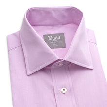 Load image into Gallery viewer, Budd Tailored Fit Micro Check Cotton Button Cuff Shirt in Lilac-Ready Made Shirt-Sterling-and-Burke