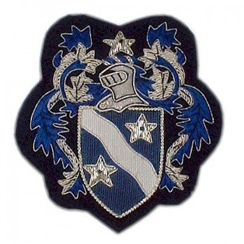 Blue Star Crest Blazer Badge | Made in England | Sterling and Burke-Blazer Badge-Sterling-and-Burke