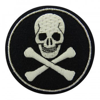 Jolly Roger Blazer Badge | Skull & Crossbones Blazer Badge | Made in England-Blazer Badge-Sterling-and-Burke