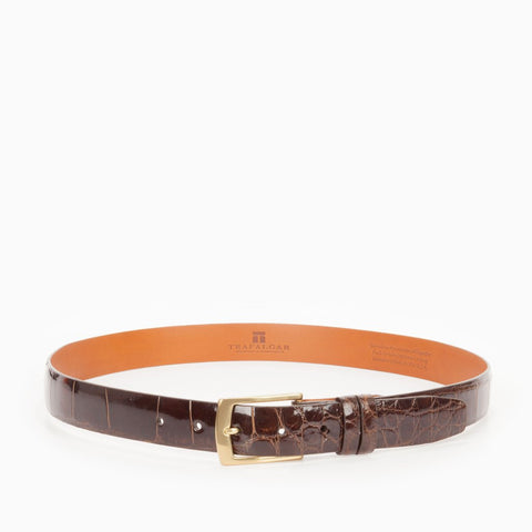 Genuine American Alligator Belt 1 3/16 Inches, Brown-Belt-Sterling-and-Burke