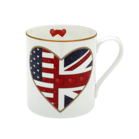 Fine English Bone China | Very Special Relationship Heart Mug | Halcyon Days | Made in England